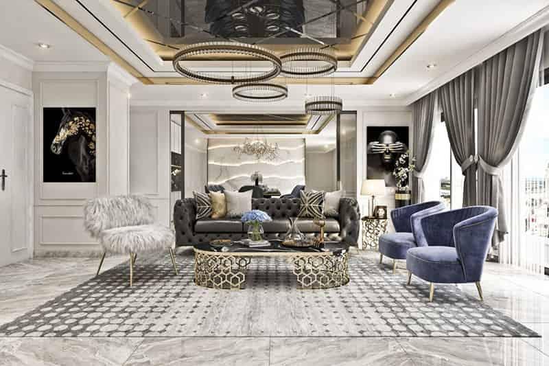 phong cách thiết kế nội thất căn hộ tân cổ điển