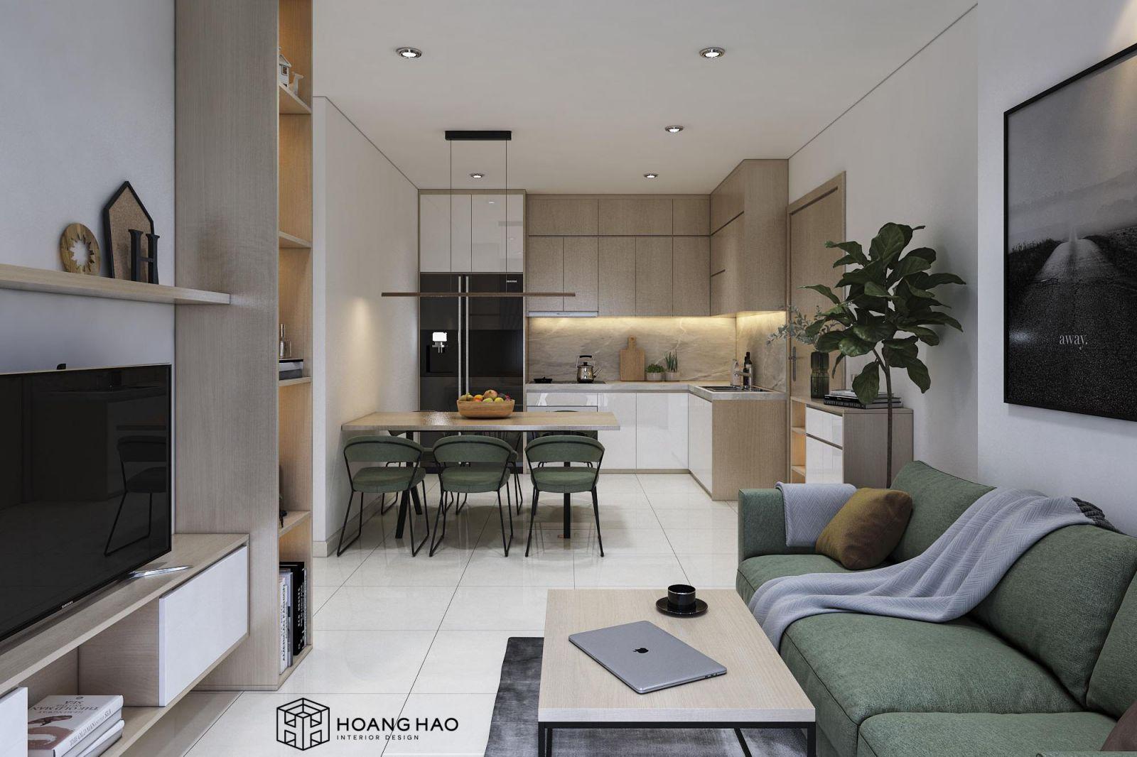 Thiết Kế Căn Hộ Vinhomes Grand Park Studio222