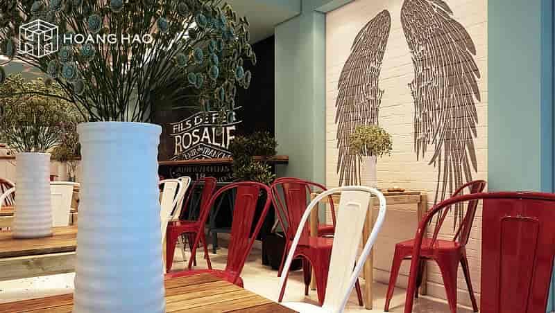thiết kế nội thất quán cafe đơn giản