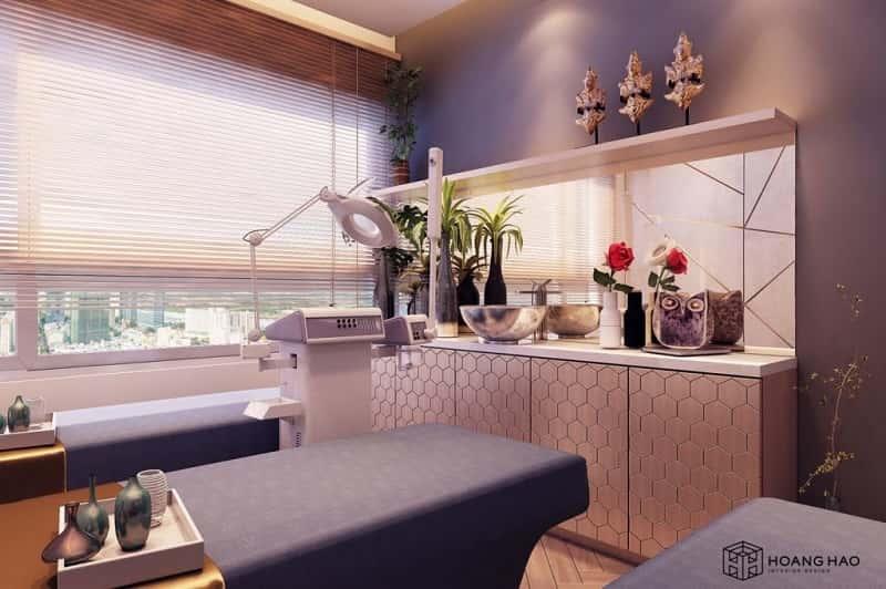 thiết kế phòng spa phong cách hiện đại