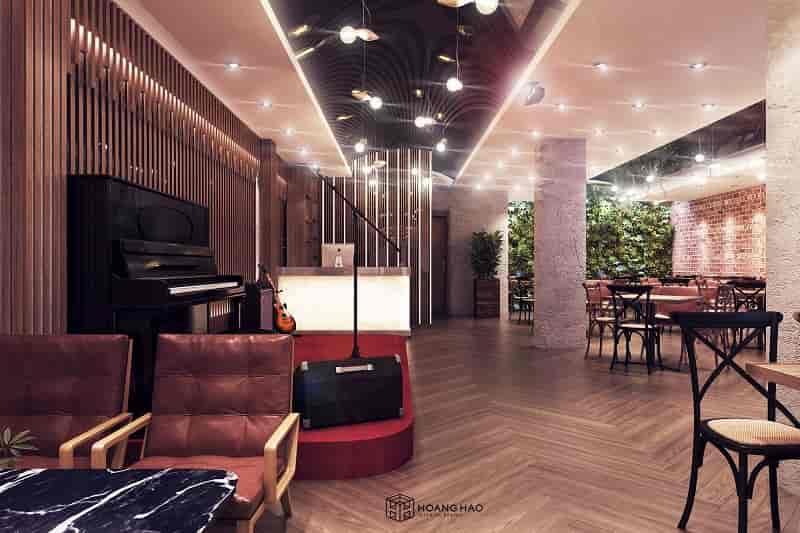 thiết kế quán cà phê acoustic