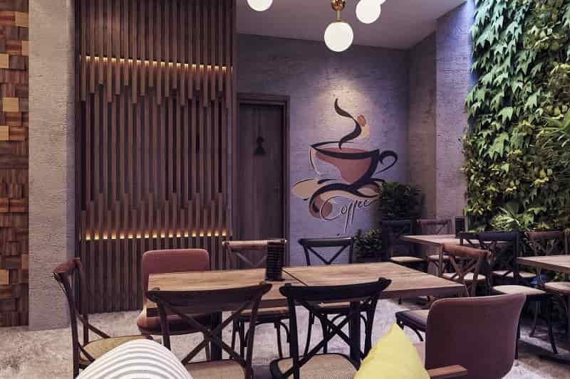 nội thất quán cafe mộc