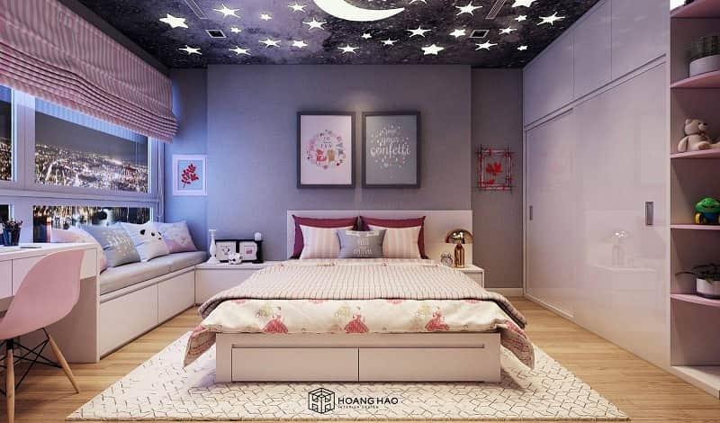 đặt giường ngủ lệch với cửa ra vào
