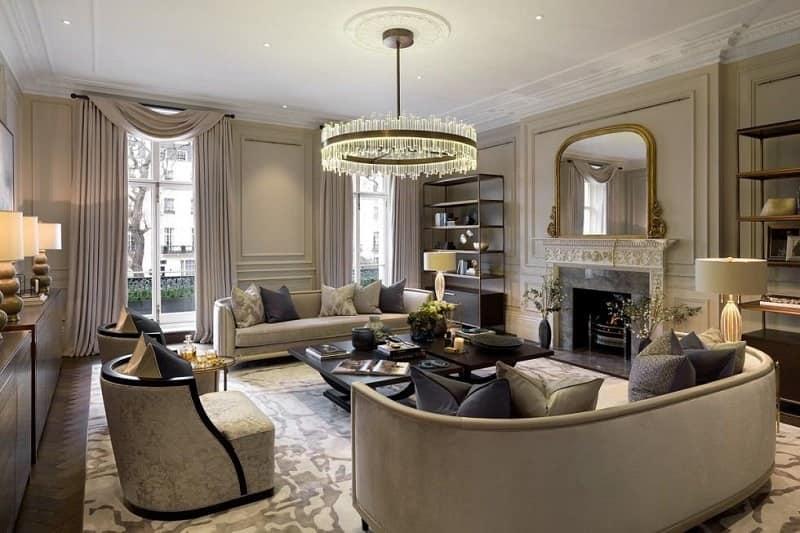 Căn hộ chung cư rất phù hợp với phong cách tân cổ điển