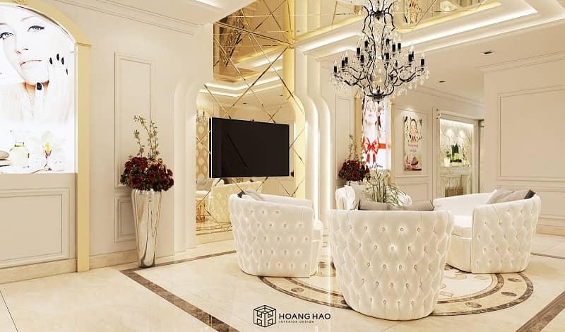 nội thất spa tân cổ điển được thiết kế tỉ mỉ