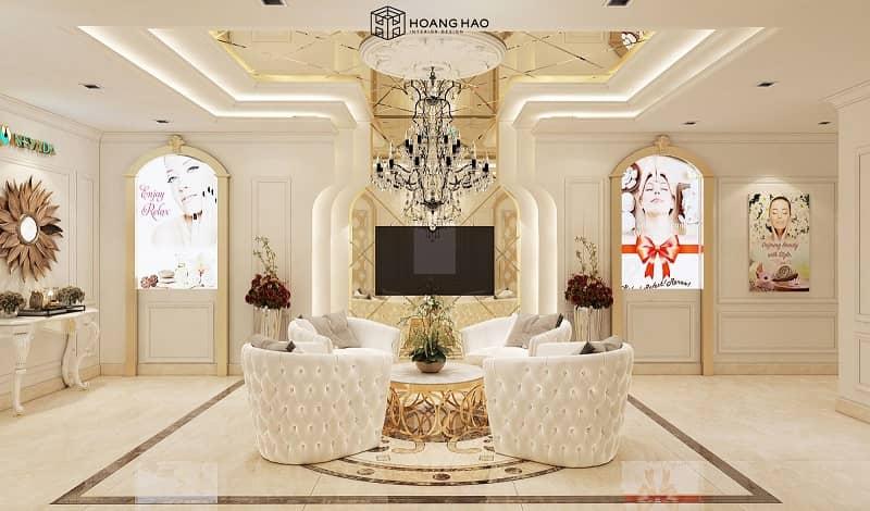 mẫu thiết kế nội thất spa tân cổ điển