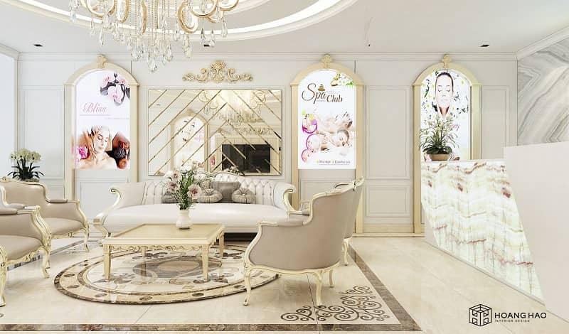 hình ảnh thiết kế nội thất spa tân cổ điển tại hoàng hảo